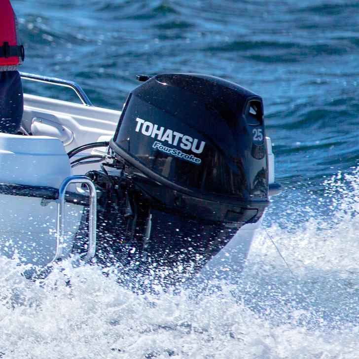 Tohatsu 25hp outboard engine